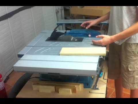 Ajustes sierra de mesa MLT100 Makita  YouTube