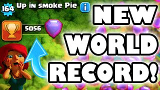 "Clash of Clans - NEW WORLD RECORD! ""LEGENDS LEAGUE TROPHY RECORD BROKE!"" History Made"