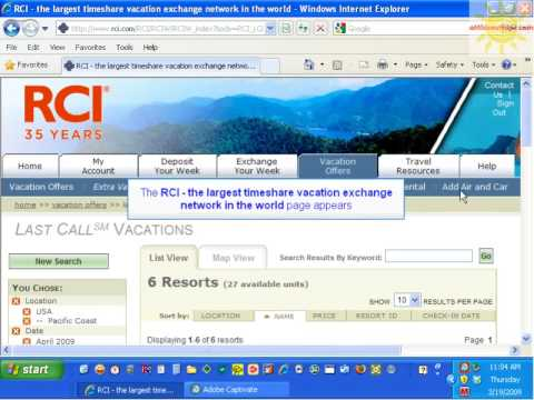 New Last Call / Extra Vacations Tutorial Help RCI members ...