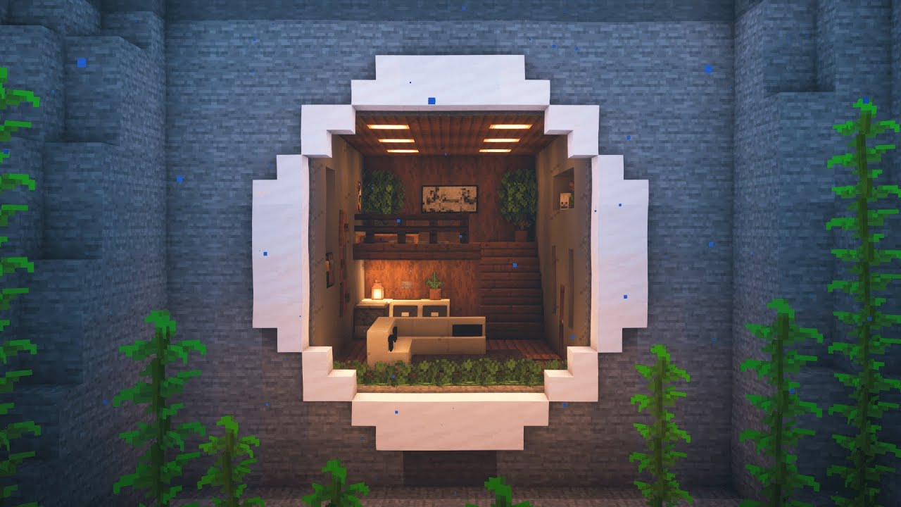 Minecraft  How to Build an Underwater Mountain House