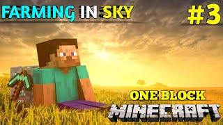 I START FARMING IΝ ONE BLOCK | MINECRAFT GAMEPLAY #3