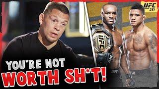 BREAKING! Kamaru Usman vs Gilbert Burns OFFICIAL UFC 251, Nate Diaz RIPS both of them, Dana White