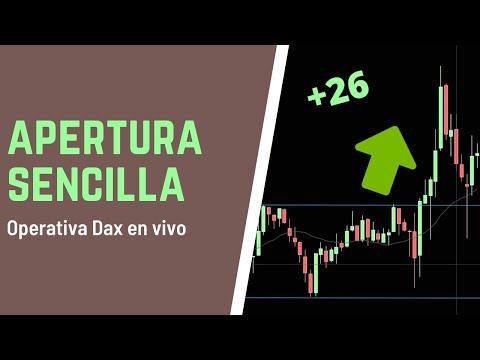 Apertura sencilla en el Dax para +26 puntos. Estrategia Mi Trading