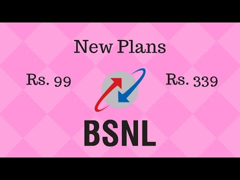 BSNL New Plans Rs. 99 and Rs. 339