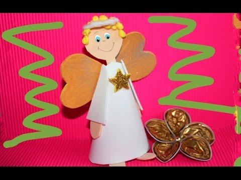 angel para rbol de navidad o adorno con moldes