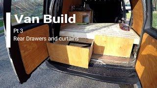 Camper Van Conversion/Build Pt.3 REAR DRAWER SYSTEM (Van Life, GMC Safari/Astro, Stealth)