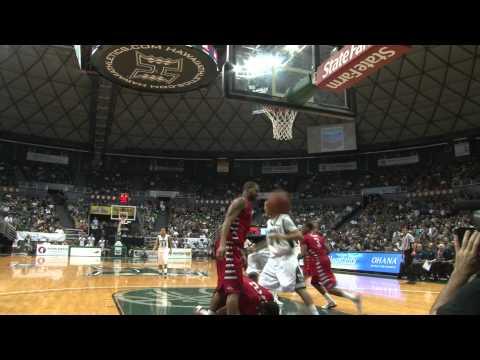 Hawaii Warriors Basketball VS Fresno State Highlights