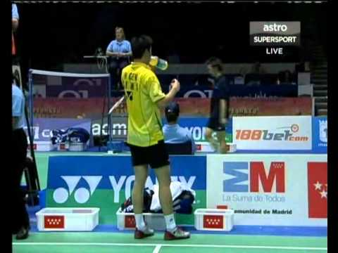 Badminton 2006 WC CHEN Hong vs Peter GADE