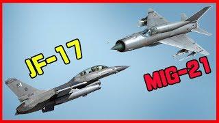 Jf-17vs미그 21...과연 승자는?