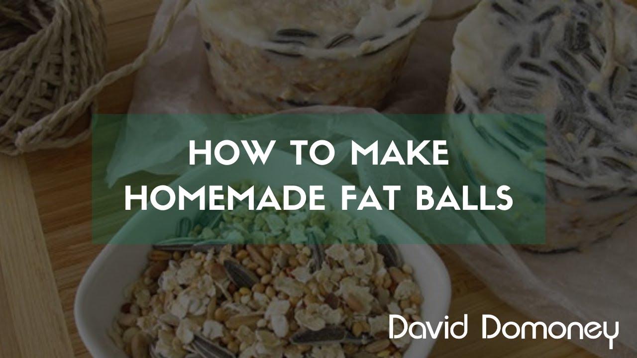 how to make homemade bird fat balls david domoney youtube. Black Bedroom Furniture Sets. Home Design Ideas