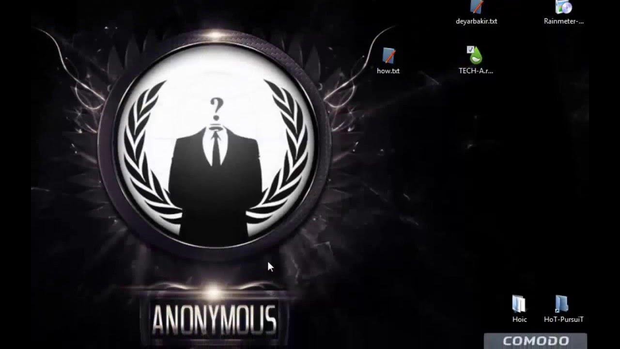Anonymous theme Rainmeter | FunnyCat TV