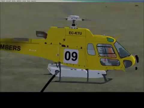 fsx as350 b3 helicopter fire bomber