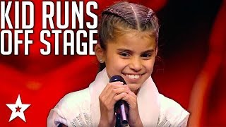 Little Girl Runs Off Stage! Judges Are Shock At What Happens Next!