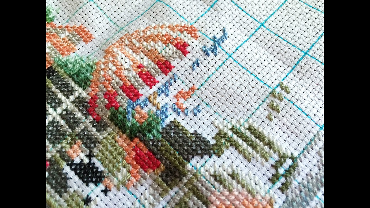 Cross stitch life processwithout hoop and embroidery machine without hoop and embroidery machinedimensions cafe by the sea 35157 ccuart Choice Image