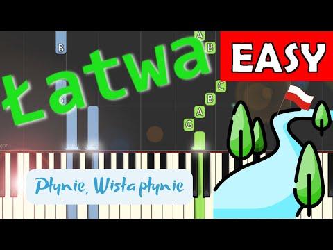 🎹 Płynie Wisła, płynie - Piano Tutorial (łatwa wersja) 🎹