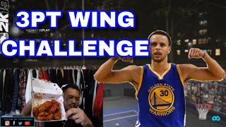EVERY 3-POINTER STEPH CURRY MISSES I EAT WORLD'S HOTTEST WINGS!