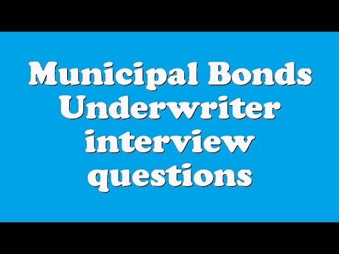 Municipal Bonds Underwriter interview questions - YouTube