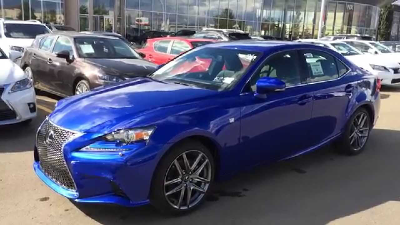 new ultrasonic blue mica 2015 lexus is 250 awd f sport series 2 review edmonton alberta canada. Black Bedroom Furniture Sets. Home Design Ideas