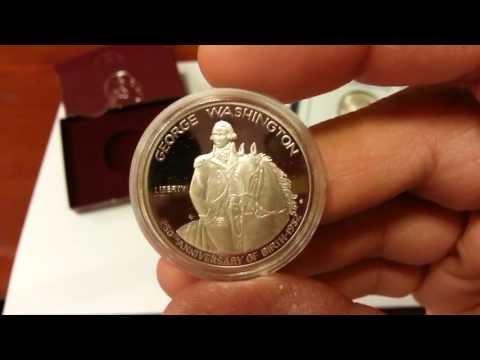 90% Silver 1982 George Washington 250th Anniversary Of Birth Half 1st Modern Commemorative