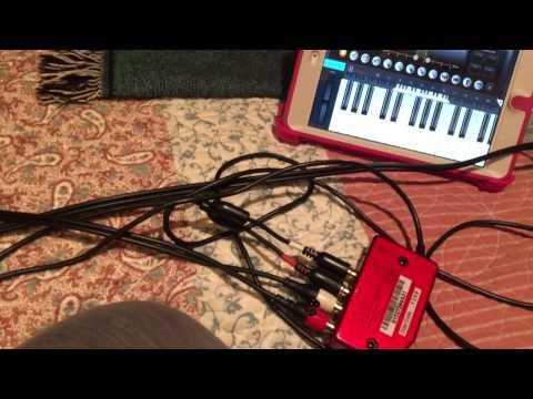 iPhone as an instrument inside Cubasis on iPad mini 2 via Behringher UCA-222