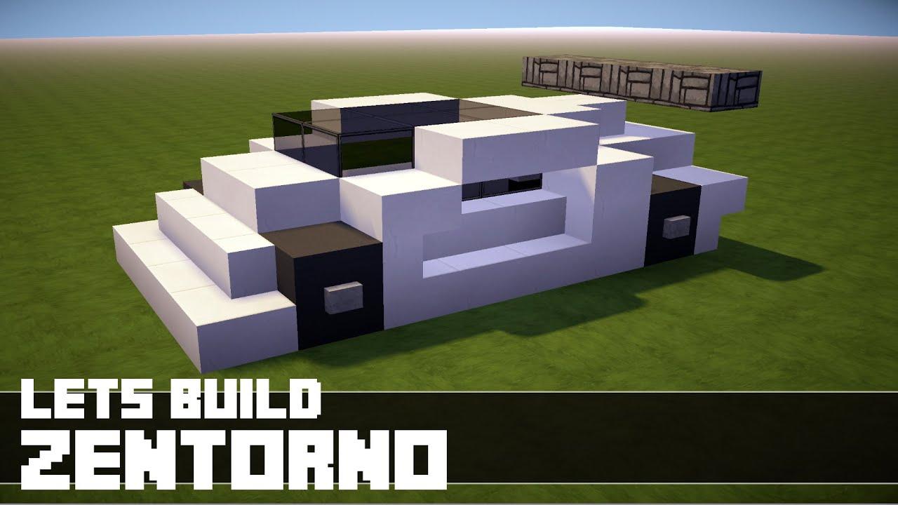 Minecraft Lets Build Sports Car Zentorno YouTube