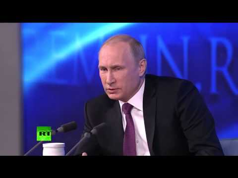 Poutine réfute les accusations de l'Occident conférence de presse, Moscou