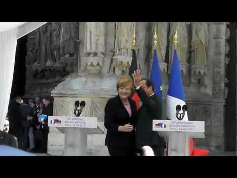 Hollande et Merkel célèbrent l'amitié franco-allemande 2