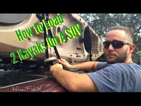 Kayak Roof Rack For Cars >> How to Load 2 Kayaks On SUV - YouTube