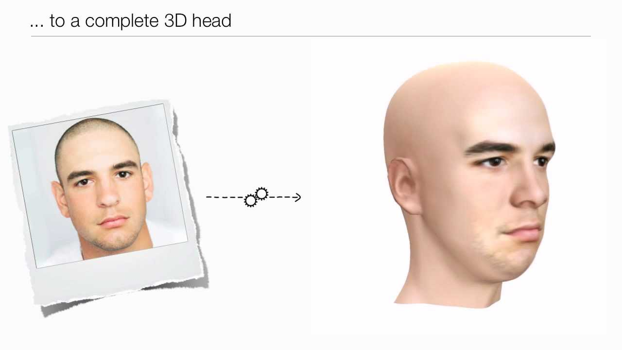 Vizago - 3D faces from a single image
