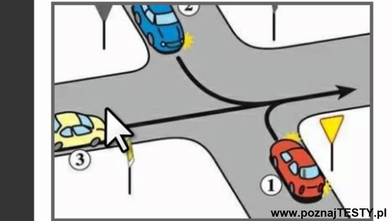 kolejność przejazdu na skrzyżowaniach testy klasa 4