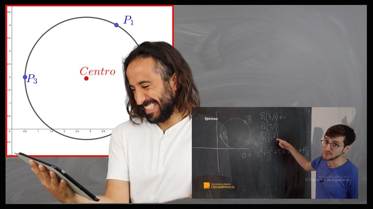 🟢 Circunferencia a partir de 3 puntos