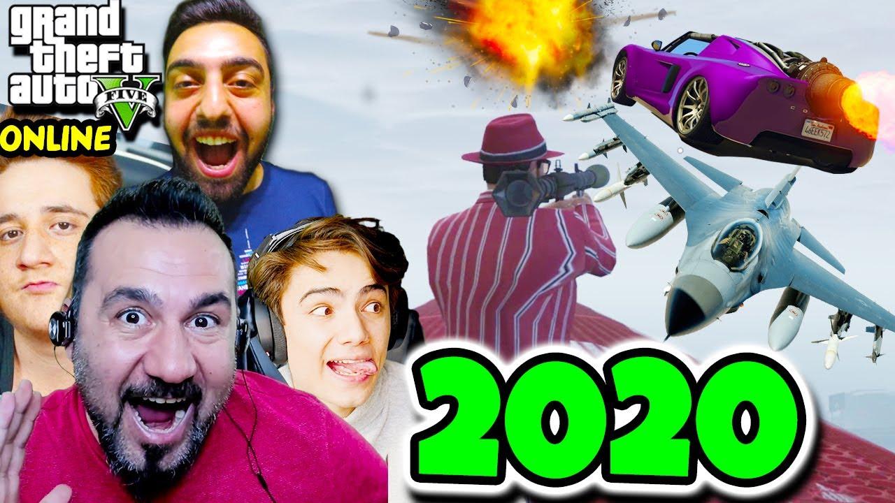 EKİPLE GTA 5 2020'DE YENİDEN! ARABALAR VS KOŞUCULAR-YARIŞ-JETLER VS RPGLER | Furkan, Emrecan, Ümidi