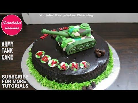 Army tank birthday chocolate cake design ideas decorating tutorial classes video