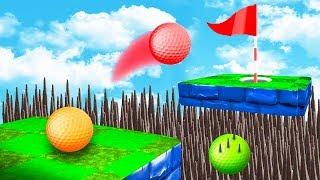 КАК ЭТО ПРОЙТИ? ПЕРЕЛЕТЕЛИ ЧЕРЕЗ ОПАСНУЮ ЛОВУШКУ И ПОПАЛИ В МЕГА СЛОЖНУЮ ЛУНКУ В ГОЛЬФ ИТ (Golf It)