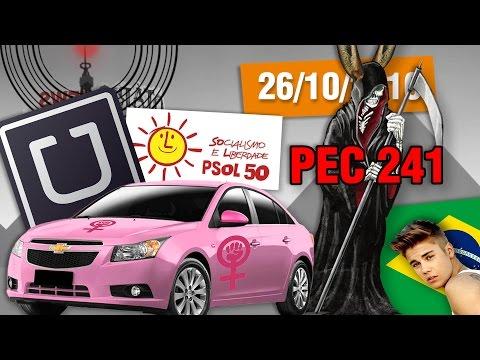 PEC 241 Aprovada, Renan no Limbo, Cotas no Uber, Justin Bieber no Brasil #OtarioNews @CanalDoOtario