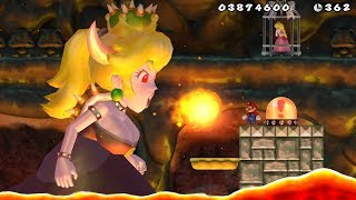 New Super Mario Bros Wii - Bowsette Final Boss & Ending