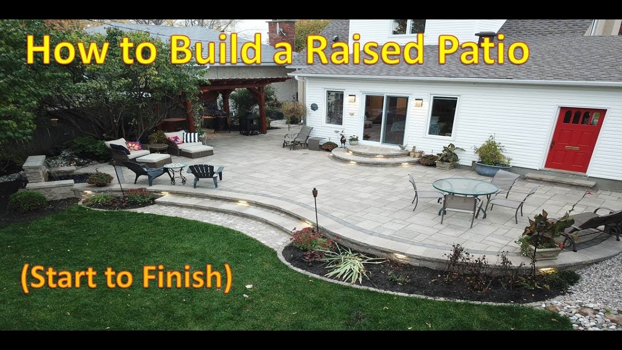 how to build a raised patio time lapse with techo bloc blu60