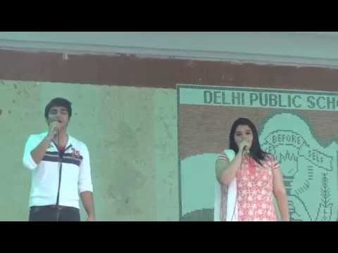 Dps Indira nagar: teacher's day karaoke by Rajat mishra and Ayesha Zameer...