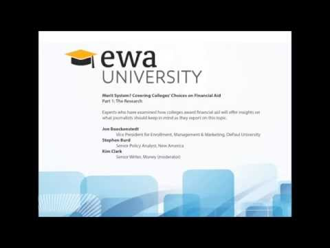 EWA University Merit Aid (Part 1)