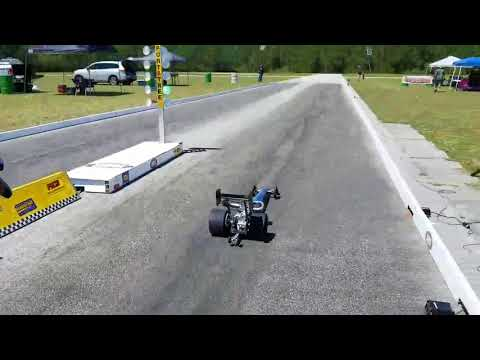 RCMAX 65cc - 1/4 scale DRAGSTER - 2.01 Second record run!!
