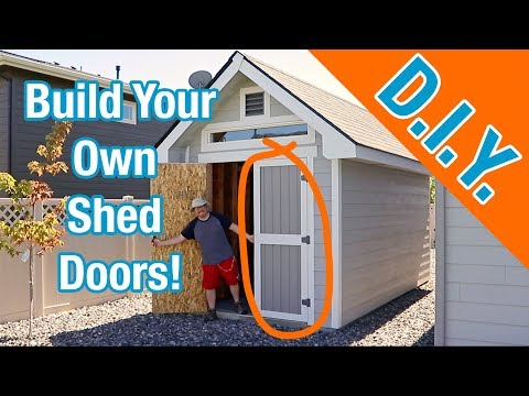 How To Build Shed Doors: How To Build A Shed Ep 20