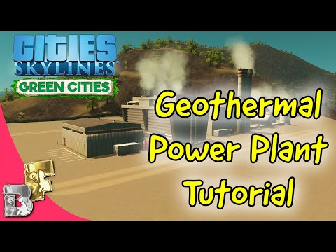 Cities skylines | Geothermal Power plant Tutorial