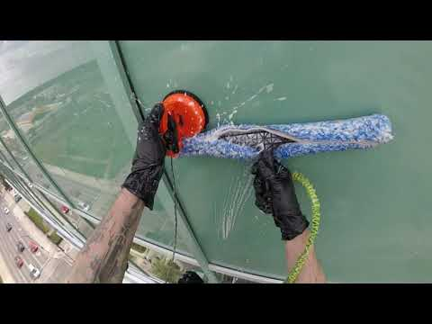 Rope Access Window Cleaning In Canada Includes Rigging And Entire Drop.