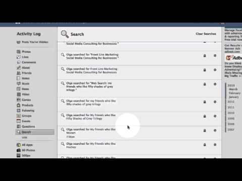 How to Clear Search History in Facebook