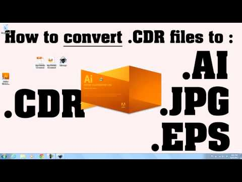 How to convert  CDR files to  AI files TUTORIAL - YouTube