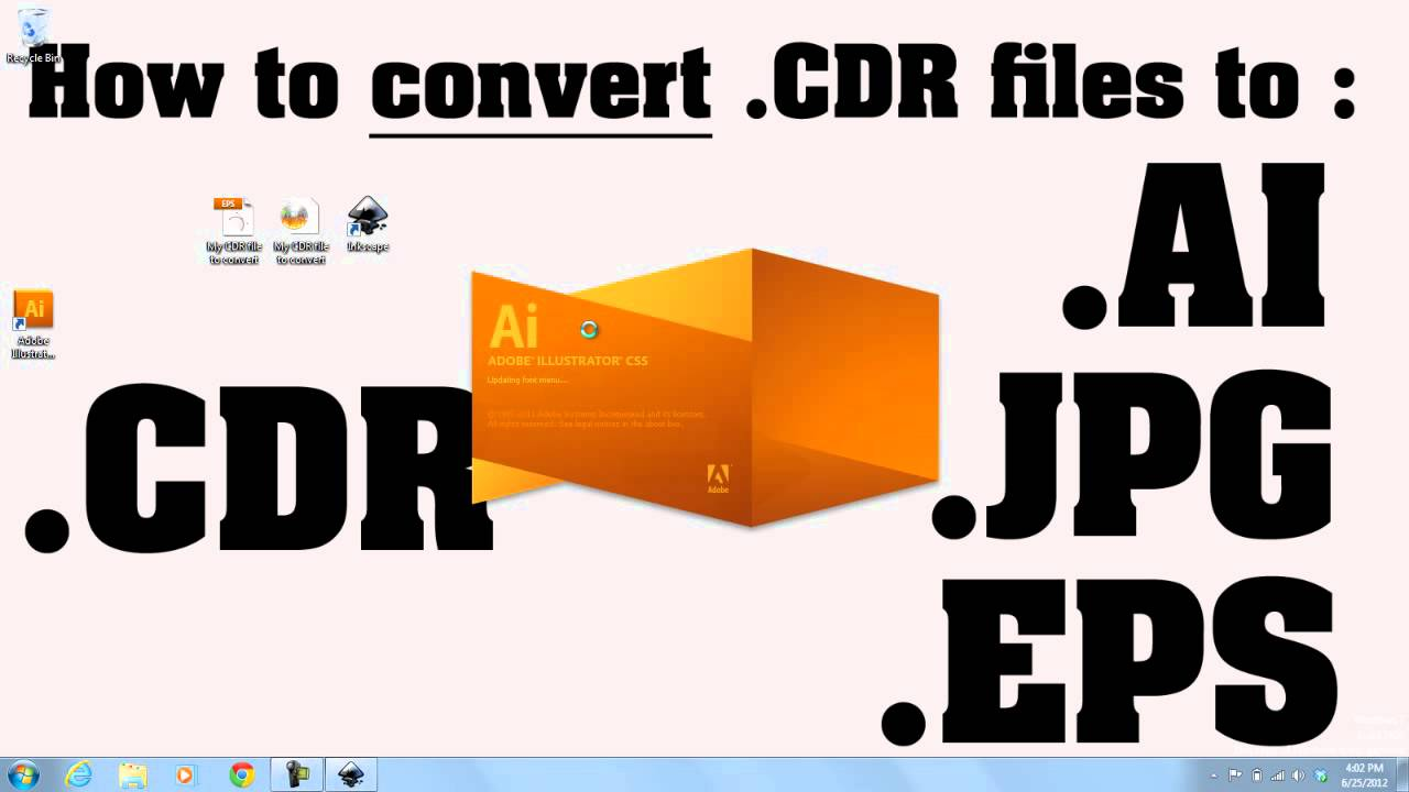 How to convert  CDR files to  AI files TUTORIAL