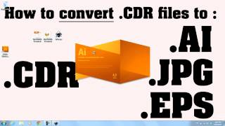 How to convert .CDR files to .AI files TUTORIAL