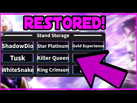 (AUT) How To Restore Stands Tutorial In A Universal Time