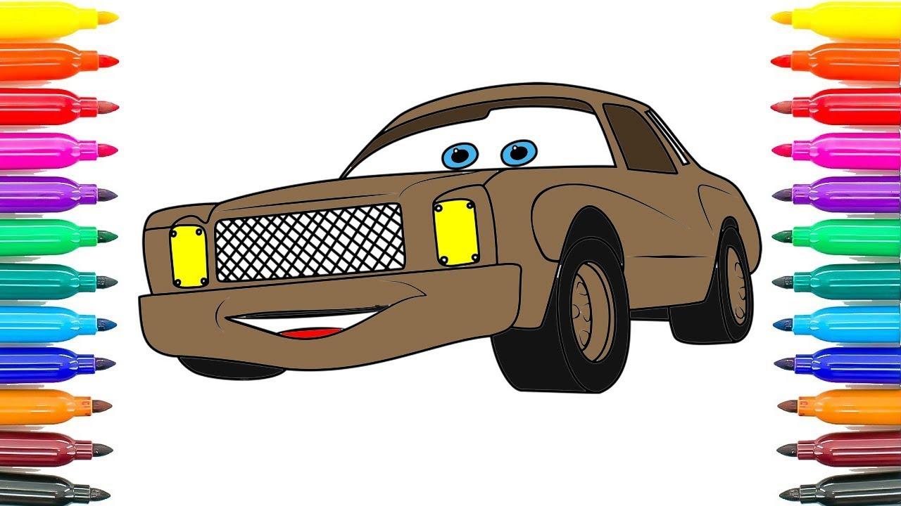 Nasıl çizim Otomobil 3 Darrell Cartrip Boyama Sayfaları Arabalar