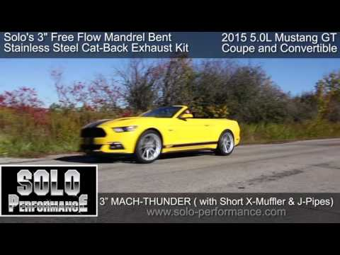 FORD 5.0L MUSTANG GT (2015-PRESENT) SOLO PERFORMANCE MACH-THUNDER CAT BACK 3